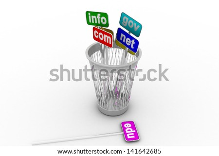 Chose domain names and internet concept - stock photo