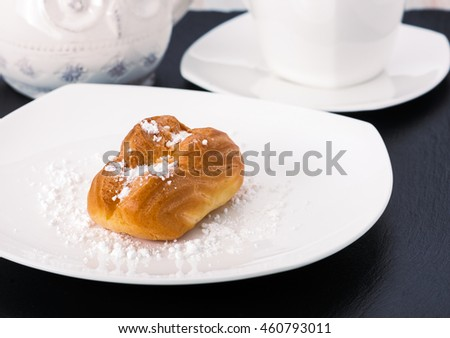 choux pastry on a white plate