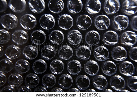 chpok texture, packaging with air bubbles, cellophane film to air - stock photo