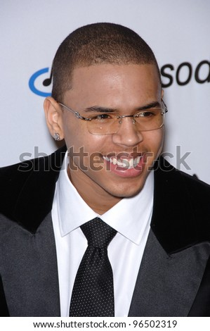 CHRIS BROWN at music mogul Clive Davis' annual pre-Grammy party at the Beverly Hilton Hotel. February 7, 2006  Beverly Hills, CA  2006 Paul Smith / Featureflash