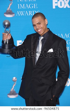 CHRIS BROWN at the 37th Annual NAACP Image Awards at the Shrine Auditorium, Los Angeles. February 25, 2006  Los Angeles, CA.  2006 Paul Smith / Featureflash