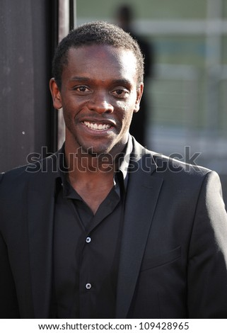 "Chris Chalk at the Los Angeles premiere for HBO's new series ""The Newsroom"" at the Cinerama Dome, Hollywood. June 21, 2012  Los Angeles, CA Picture: Paul Smith / Featureflash - stock photo"