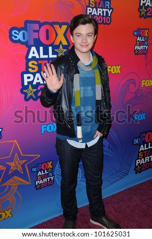 Chris Colfer at the FOX TCA All Star Party, Santa Monica Pier, Santa Monica, CA. 08-02-10