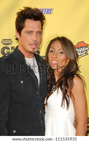 "Chris Cornell and wife Vicky at Spike TV's ""Guy Choice"" Awards. Radford Studios, Studio City, CA. 06-09-07"