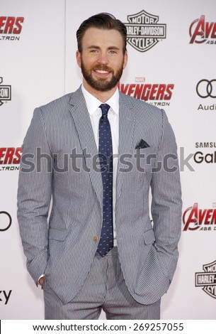 Chris Evans at the World premiere of Marvel's 'Avengers: Age Of Ultron' held at the Dolby Theatre in Hollywood, USA on April 13, 2015.  - stock photo