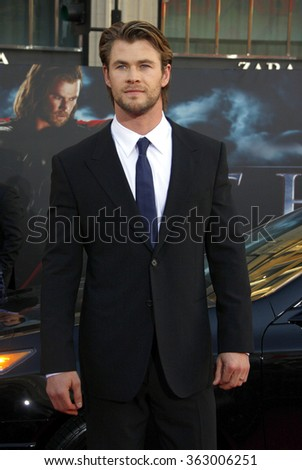 "Chris Hemsworth at the Los Angeles Premiere of ""Thor"" held at the El Capitan Theater in Los Angeles, California, United States on May 5, 2011."