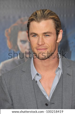 "Chris Hemsworth at the world premiere of his new movie ""Marvel's The Avengers"" at the El Capitan Theatre, Hollywood. April 11, 2012  Los Angeles, CA Picture: Paul Smith / Featureflash - stock photo"