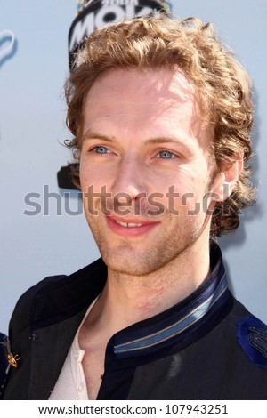 Chris Martin of the band Coldplay  at the 2008 MTV Movie Awards. Gibson Amphitheatre, Universal City, CA. 06-01-08 - stock photo