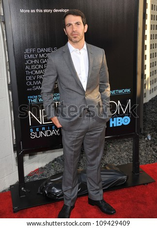 "Chris Messina at the Los Angeles premiere for HBO's new series ""The Newsroom"" at the Cinerama Dome, Hollywood. June 21, 2012  Los Angeles, CA Picture: Paul Smith / Featureflash - stock photo"