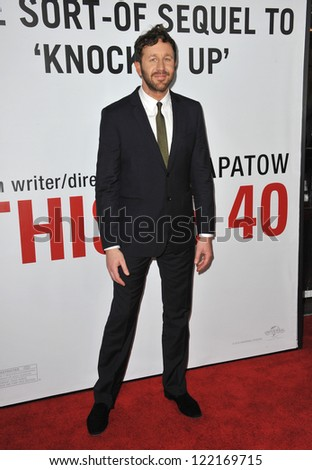 "Chris O'Dowd at the world premiere of his movie ""This Is 40"" at Grauman's Chinese Theatre, Hollywood. December 12, 2012  Los Angeles, CA Picture: Paul Smith - stock photo"