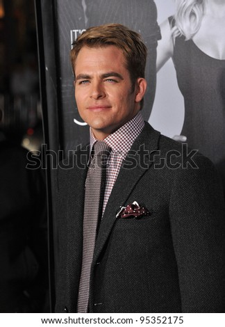 "Chris Pine at the Los Angeles premiere of his new movie ""This Means War"" at Grauman's Chinese Theatre, Hollywood. February 8, 2012  Los Angeles, CA Picture: Paul Smith / Featureflash"