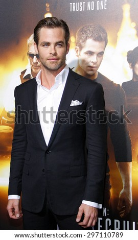 """Chris Pine at the Los Angeles premiere of """"Jack Ryan: Shadow Recruit"""" held at the TCL Chinese Theatre in Los Angeles on January 15, 2014 in Los Angeles, California.   - stock photo"""