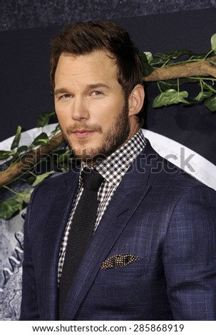 Chris Pratt at the Los Angeles premiere of 'Jurassic World' held at the Dolby Theatre in Hollywood, USA on June 9, 2015.  - stock photo