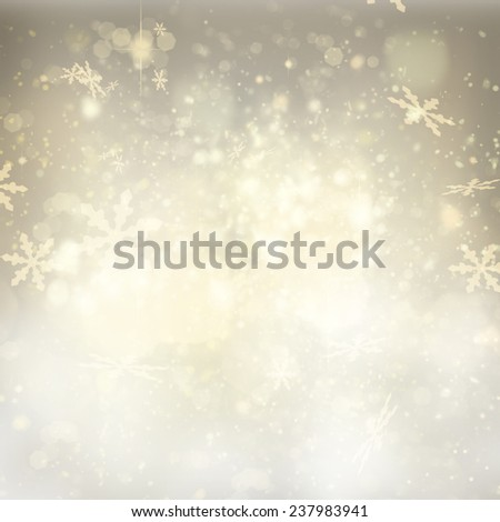 chrismas silver  background with bright  sparkles and snowflakes - stock photo