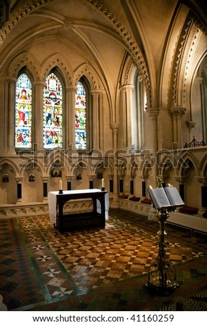 christ church cathedral at dublin ireland - stock photo