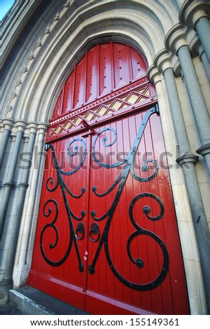 Christ Church Cathedral gate - stock photo