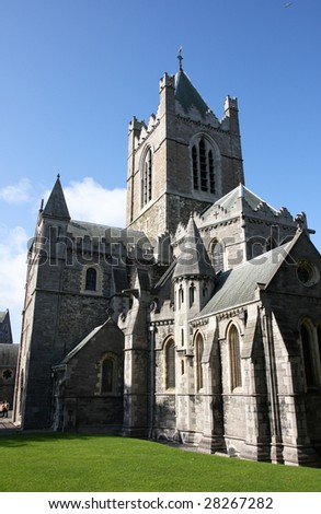 Christ Church Cathedral in Dublin, Ireland, IE, EU - stock photo