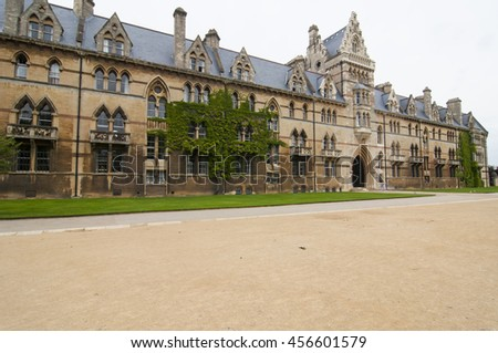 Christ church cathedral in Oxford University, The Meadow Building. - stock photo