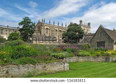 Christ Church college in Oxford, United Kingdom. - stock photo