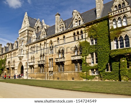 Christ Church college in Oxford, United Kingdom - stock photo