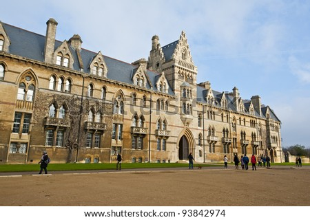 Christ Church College, Oxford University, England - stock photo