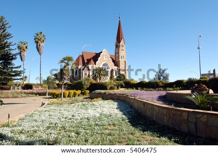 Christ Church in Windhoek, Namibia - stock photo