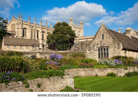Christ Church. War Memorial Garden. Oxford, UK - stock photo