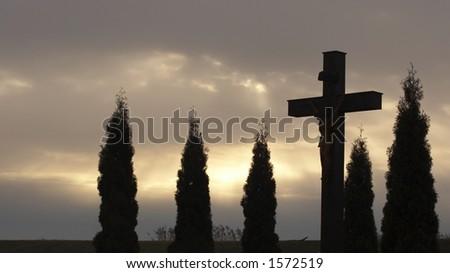 Christ on cross - stock photo
