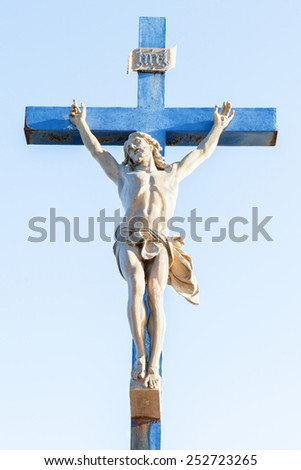 Christ on the cross - stock photo