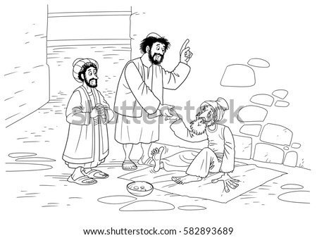 Peter and john lame man page coloring pages for Peter and john heal the lame man coloring page