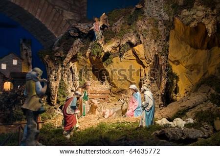 Christ's nativity. - stock photo