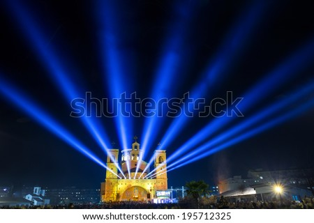 Christ's Resurrection church in Podgorica,Montenegro - stock photo