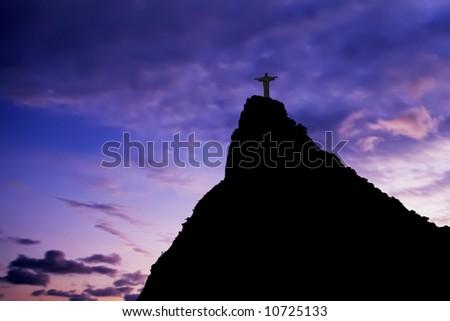 Christ the Redeemer on Corcovado Mountain, Rio de Janeiro  Brazil South America - stock photo