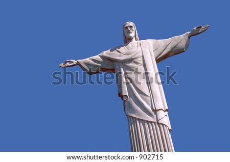 Christ the Redeemer, Rio de Janeiro. - stock photo
