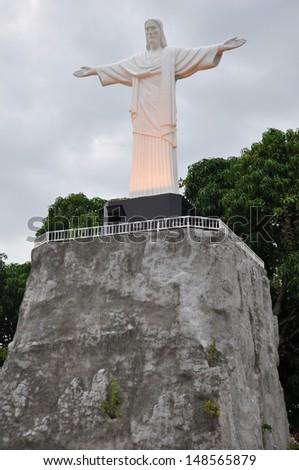 Christ the Redeemer Statue Replica at Mini Siam in Pattaya, Thailand - stock photo