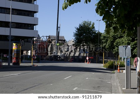 CHRISTCHURCH, NEW ZEALAND - DEC 1:christchurch recovering from the effects of the earthquake, December 1 2011, Christchurch. - stock photo