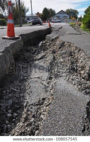 CHRISTCHURCH, NEW ZEALAND - FEBRUARY 24: Prime Minister announces an earthquake Red Zone which includes 5000 condemned residential homes on February 24, 2011 in Christchurch. - stock photo