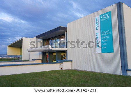 CHRISTCHURCH, NEW ZEALAND - JUNE 13, 2015: The new Air Force museum shows classic aircrafts of New Zealand - stock photo