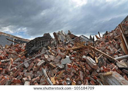 CHRISTCHURCH, NEW ZEALAND - SEPTEMBER 29: The remains of a shop in Riccarton Road after a massive earthquake on September 29, 2010 in Christchurch. - stock photo