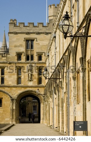 Christchurch University (Oxford, England) - stock photo