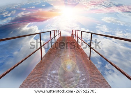 Christian background. Faith and gateway to heaven - stock photo