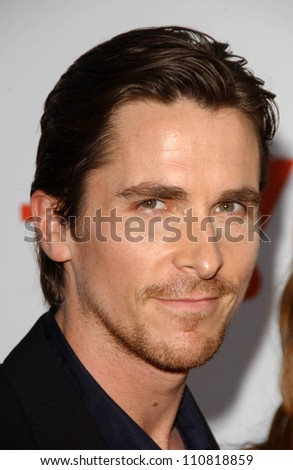 """Christian Bale at the """"3:10 To Yuma"""" Los Angeles Premiere. Mann National Theatre, Westwood, CA. 08-21-07 - stock photo"""