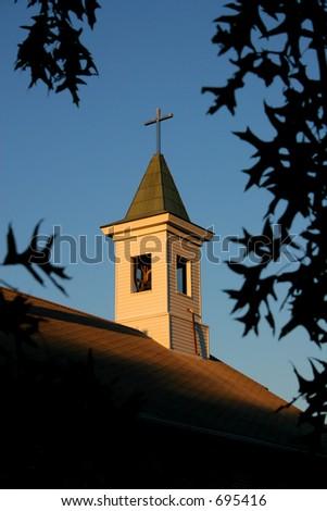 Christian Church Steeple - stock photo