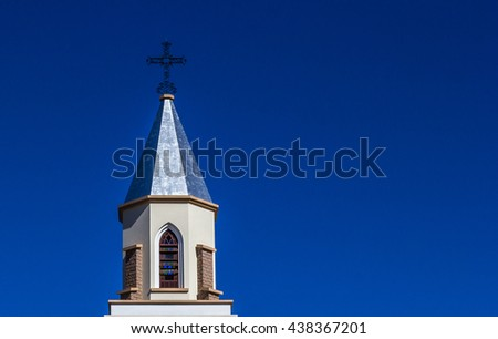 Christian church tower.