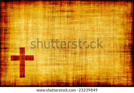Christian Cross Bible Poster Design as Abstract - stock photo