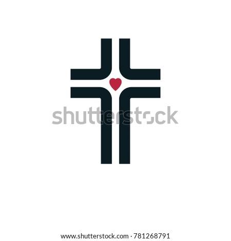 Christian Cross True Belief Religion Symbol Stock Illustration