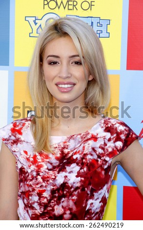 Christian Serratos at the Variety's 6th Annual Power Of Youth held at the Paramount Studios in Hollywood on September 15, 2012. - stock photo