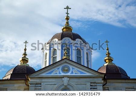 Christian shrine on Mount Athos - stock photo