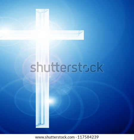 Christianity representation with the symbol of a cross - stock photo