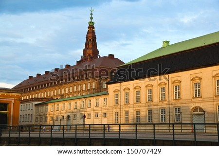Christiansborg Palace, Copenhagen, Denmark - stock photo